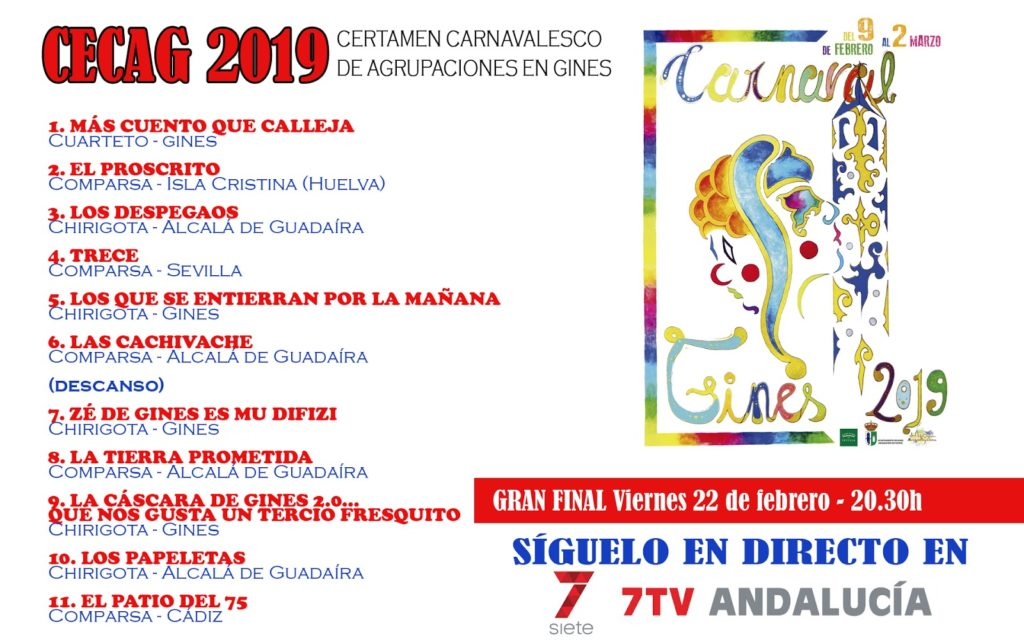 Montaje CECAG carnaval de gines 2019