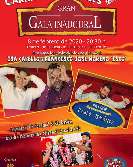 Todo listo para que comience el Carnaval de Gines 2020, cuya Gala Inaugural será el 8 de febrero